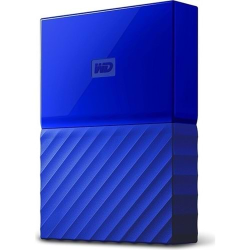 EXTERNAL HDD WD 2.5 1TB MY PASSPORT USB 3.0 MAVİ